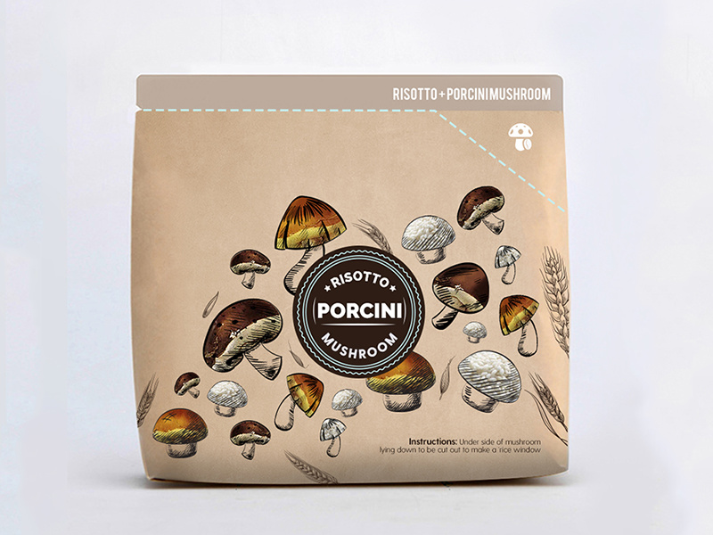 Porcini Food Packaging Design